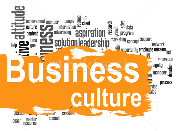 Business cultura word cloud giallo banner immagine Foto d'archivio © tang90246