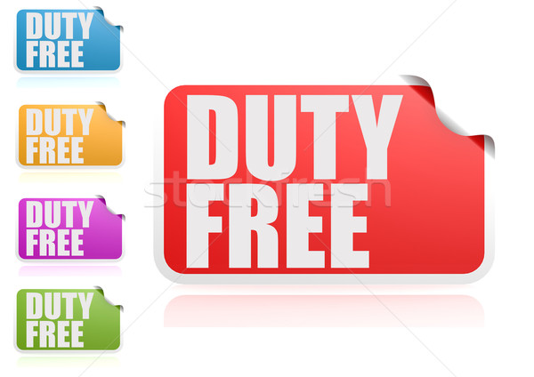 Duty free label set Stock photo © tang90246