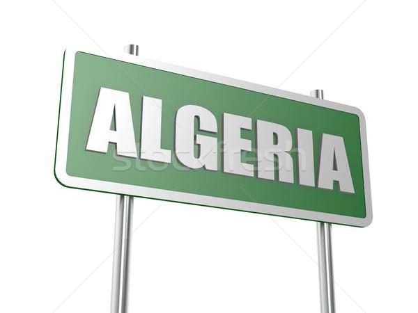 Argélia imagem prestados usado design gráfico Foto stock © tang90246