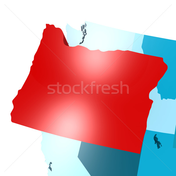 Oregon carte bleu USA image rendu Photo stock © tang90246