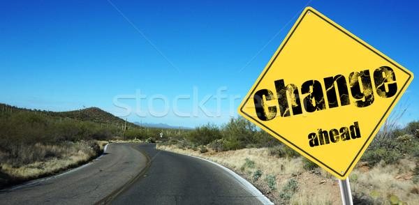 Change ahead sign  Stock photo © tang90246