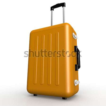 Blue luggage stands on the floor Stock photo © tang90246