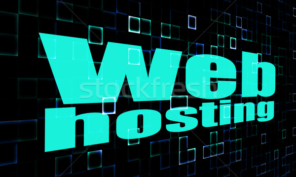 Teia hospedagem palavra digital imagem prestados Foto stock © tang90246