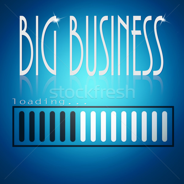 Blue loading bar with big business word Stock photo © tang90246