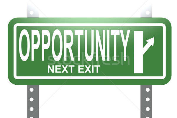 Opportunity green sign board isolated Stock photo © tang90246