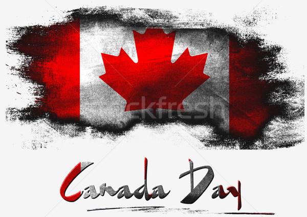 Boldog Kanada nap zászló fehér terv Stock fotó © tang90246