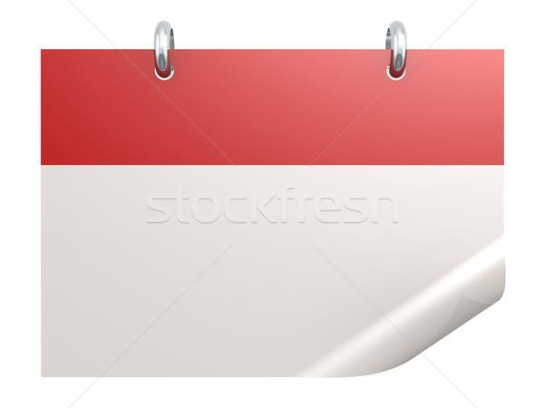 Vermelho calendário branco 3D papel Foto stock © tang90246