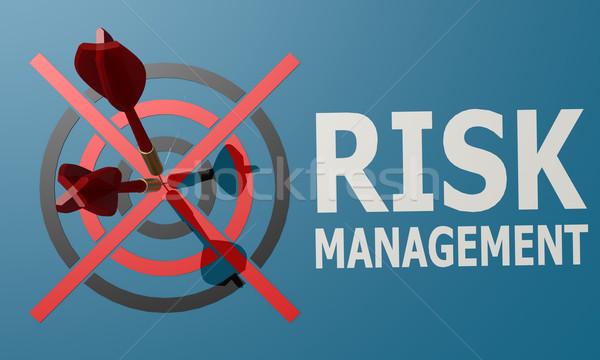 дартс совета синий Управление рисками фон прав Сток-фото © tang90246
