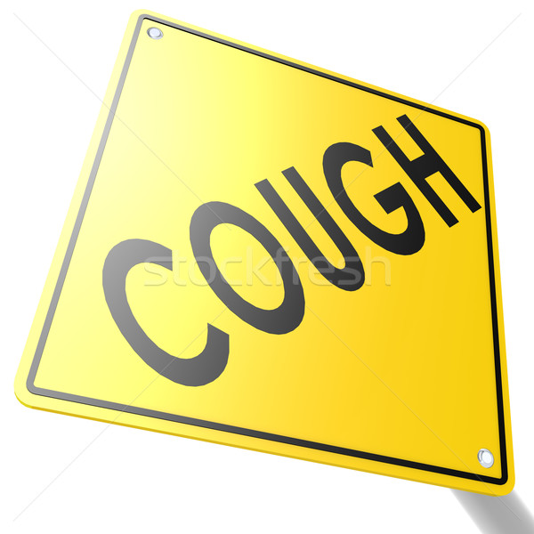 Road sign with cough Stock photo © tang90246