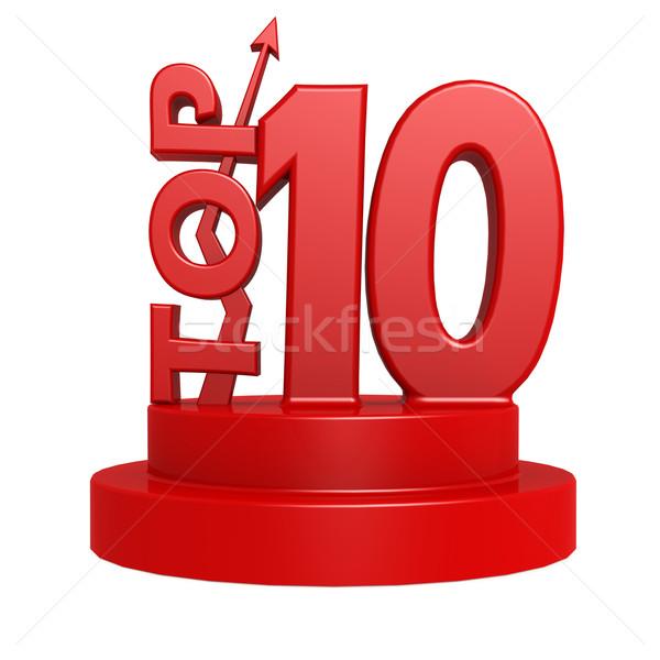 Top dieci rosso immagine reso Foto d'archivio © tang90246