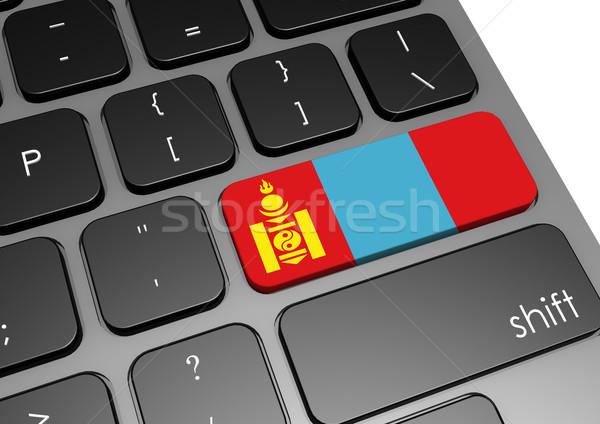 Mongólia billentyűzet kép renderelt mű használt Stock fotó © tang90246
