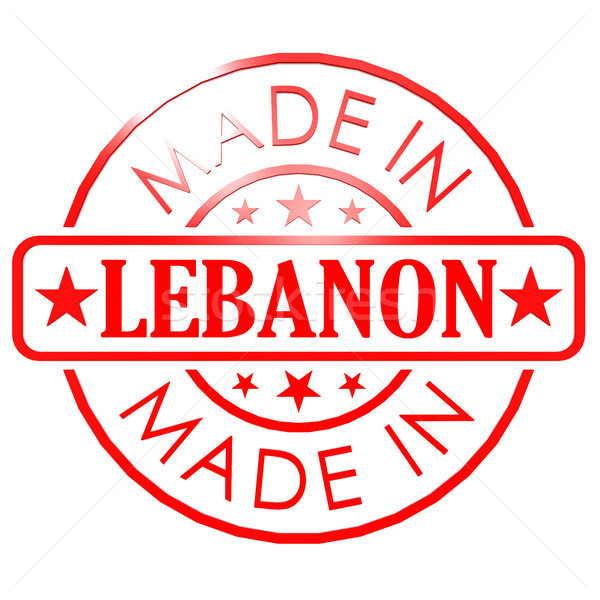 Made in Lebanon red seal Stock photo © tang90246