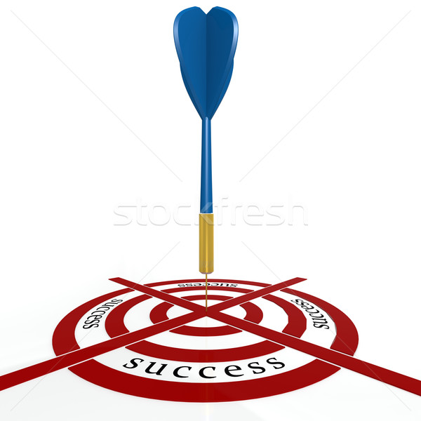 Dart board with success Stock photo © tang90246