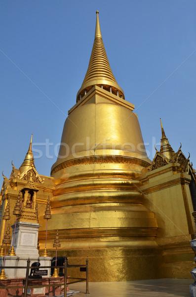 Golden pagoda in Grand Palace, Bangkok, Thailand Stock photo © tang90246
