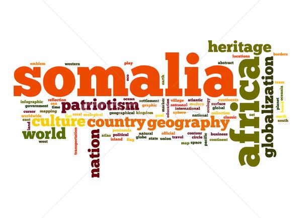 ソマリア 言葉の雲 ビジネス 世界 アフリカ 雲 ストックフォト © tang90246