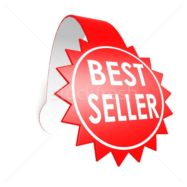 лучший продавец звездой Label службе белый Сток-фото © tang90246
