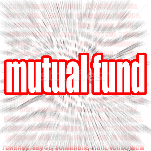 Mutual fund word cloud Stock photo © tang90246