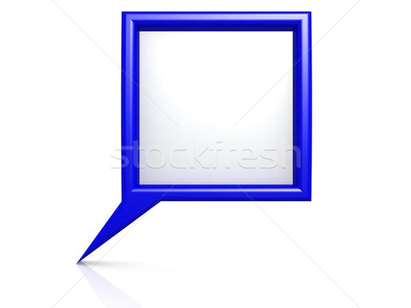 Blue dialog bubble Stock photo © tang90246