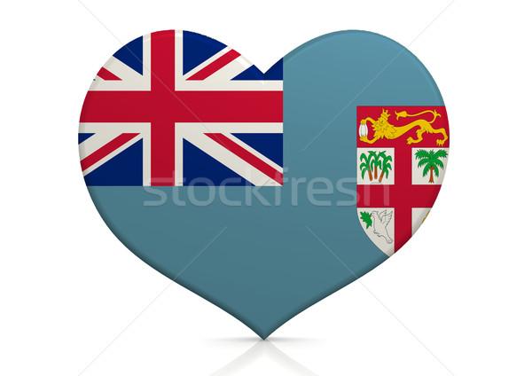 Fiji cuore sfondo viaggio paese concetto Foto d'archivio © tang90246