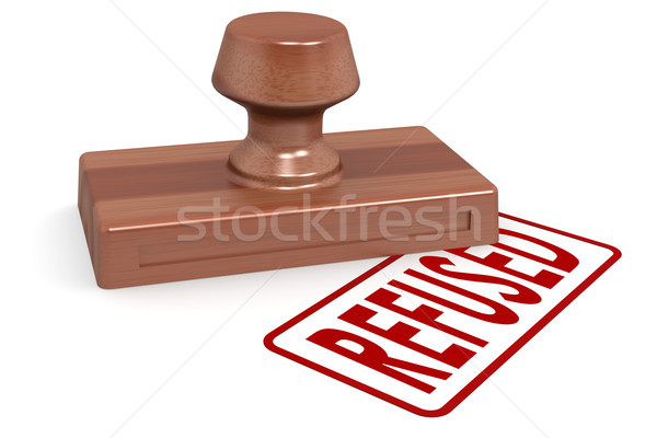 Wooden stamp refused with red text Stock photo © tang90246