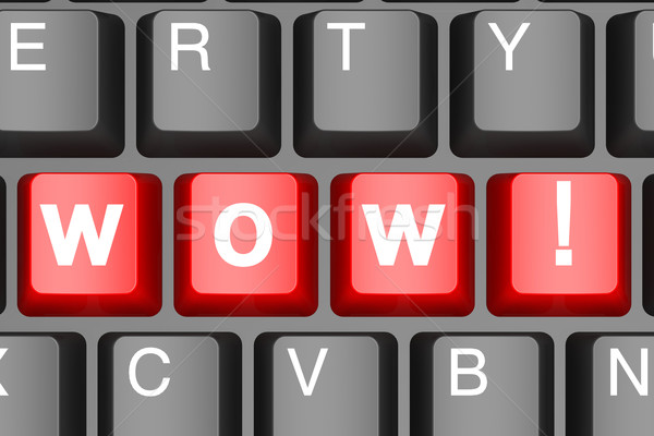 Wow button on modern computer keyboard Stock photo © tang90246