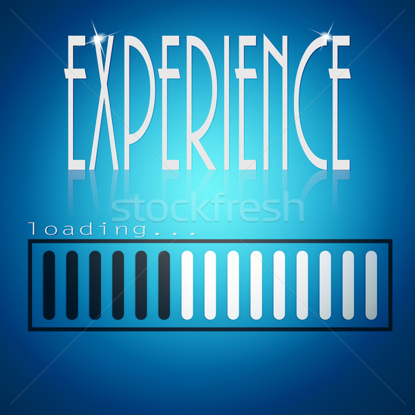 Blue loading bar with experience word Stock photo © tang90246