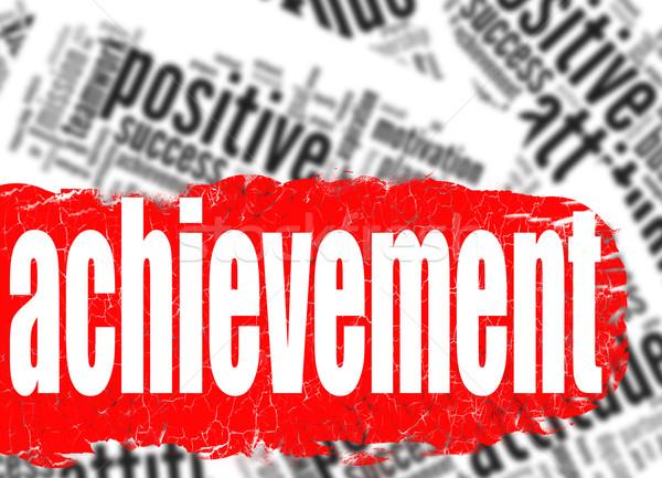 Сток-фото: слово · облако · достижение · бизнеса · изображение · оказанный