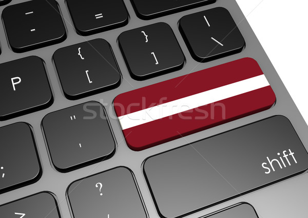 Lettország billentyűzet kép renderelt mű használt Stock fotó © tang90246
