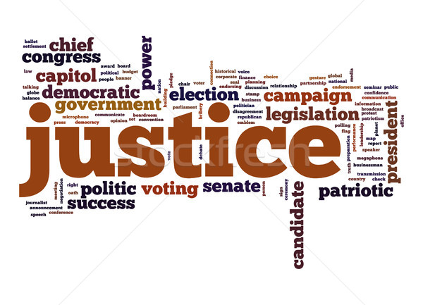Justice word cloud Stock photo © tang90246