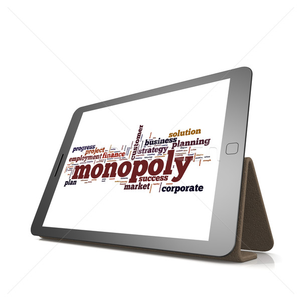 Monopole nuage de mots comprimé image rendu Photo stock © tang90246