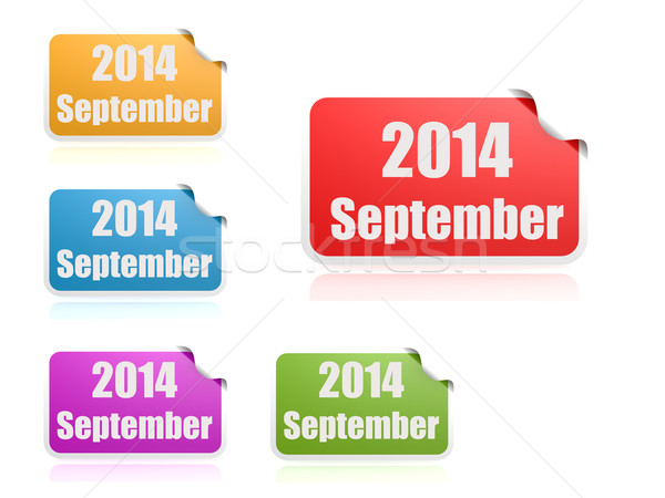 September of 2014 Stock photo © tang90246