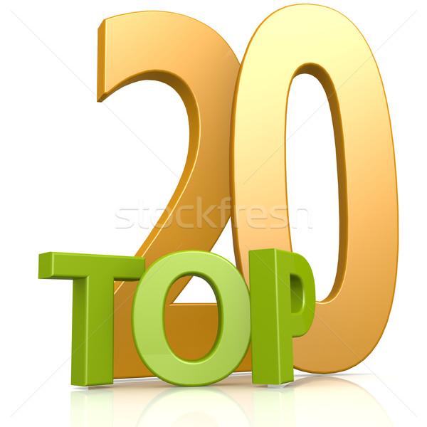 Felső 20 szó nyertes szimbólum verseny Stock fotó © tang90246