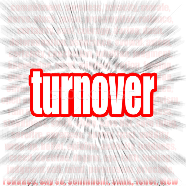 Turnover word cloud Stock photo © tang90246