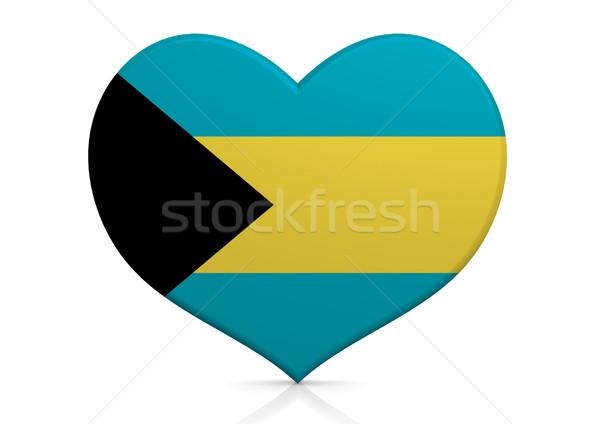 Bahamas coração fundo viajar país conceito Foto stock © tang90246