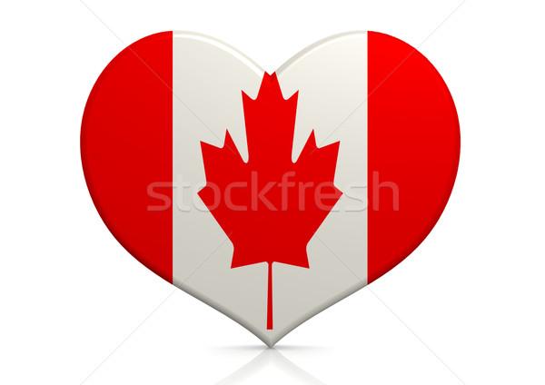 Canadá coração fundo viajar país conceito Foto stock © tang90246