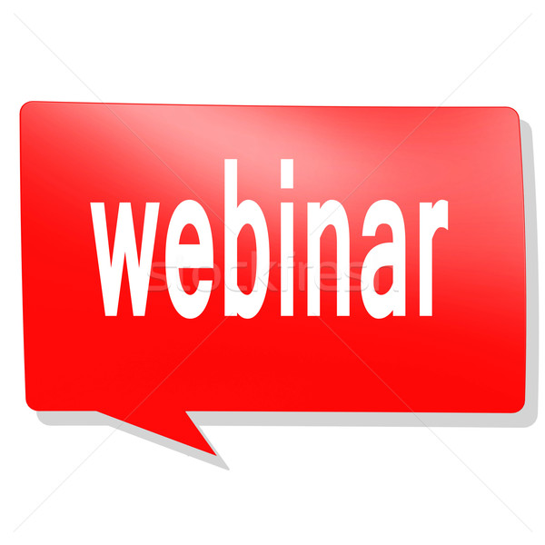 Webinar word on red speech bubble Stock photo © tang90246