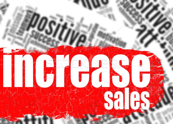 Chmura słowo wzrost sprzedaży obraz świadczonych Zdjęcia stock © tang90246