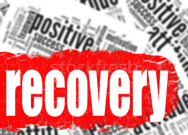 Word cloud recovery Stock photo © tang90246