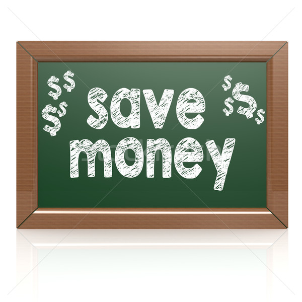 Save Money words on a chalkboard Stock photo © tang90246