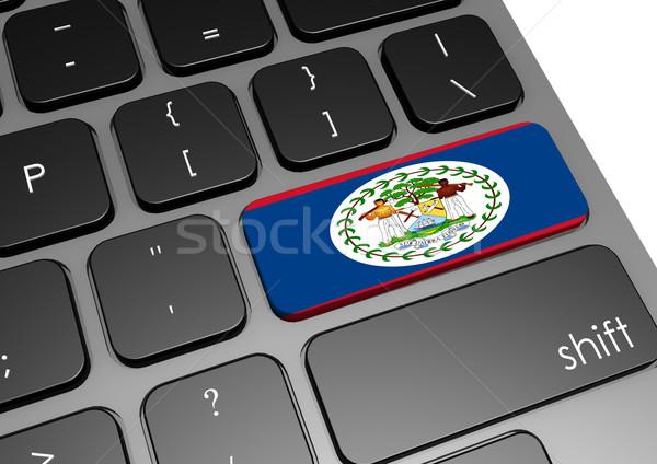 Stock fotó: Belize · billentyűzet · kép · renderelt · mű · használt