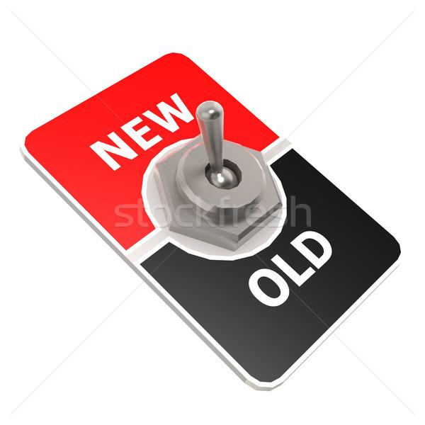 新しい 古い スイッチ 画像 レンダリング ストックフォト © tang90246