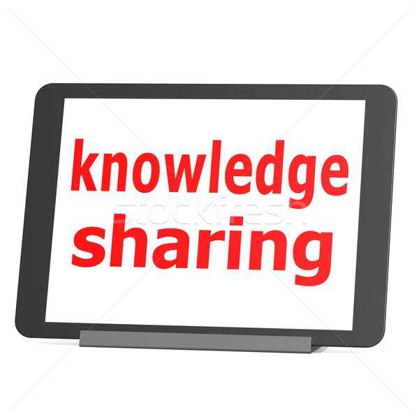 Table knowledge sharing Stock photo © tang90246