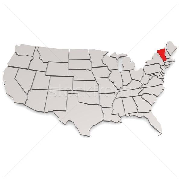 Vermont harita görüntü render kullanılmış Stok fotoğraf © tang90246