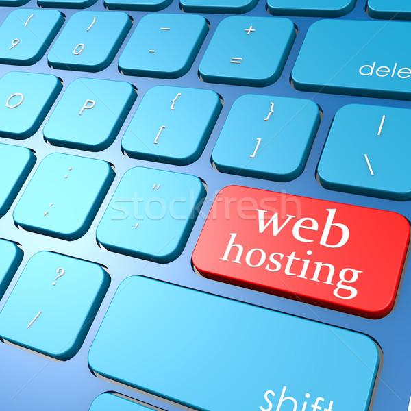 Háló hosting billentyűzet absztrakt terv háttér Stock fotó © tang90246