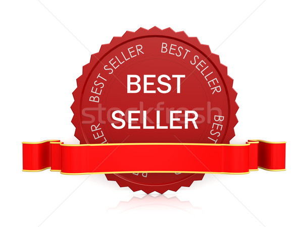 Best seller seal with ribbon Stock photo © tang90246