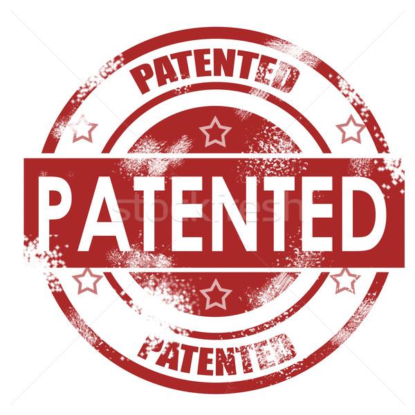 Patenteado grunge retro vermelho isolado fita Foto stock © tang90246