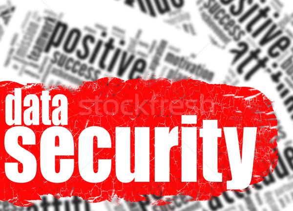 Nuvem da palavra segurança de dados imagem prestados usado Foto stock © tang90246