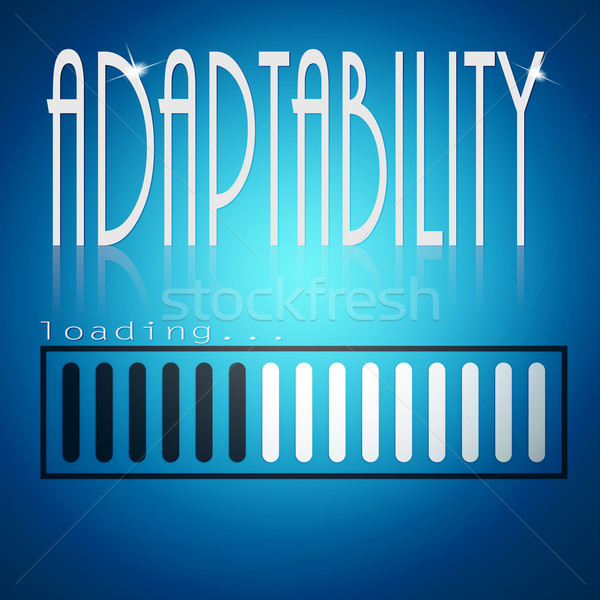 Blue loading bar with adaptability word Stock photo © tang90246