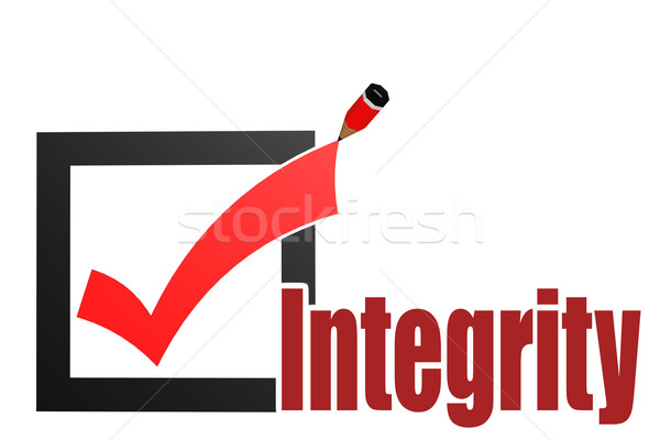 Check mark with integrity word Stock photo © tang90246
