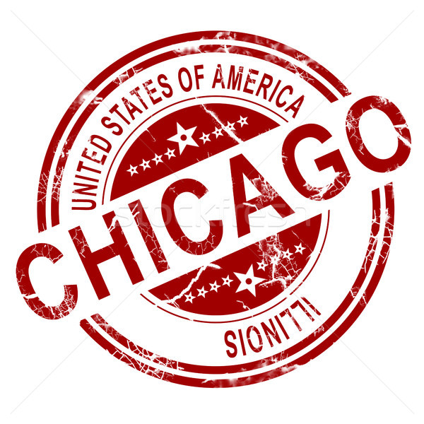 Chicago stamp with white background Stock photo © tang90246